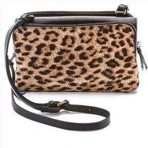 Madewell Leopard Twin Pouch Crossbody Bag